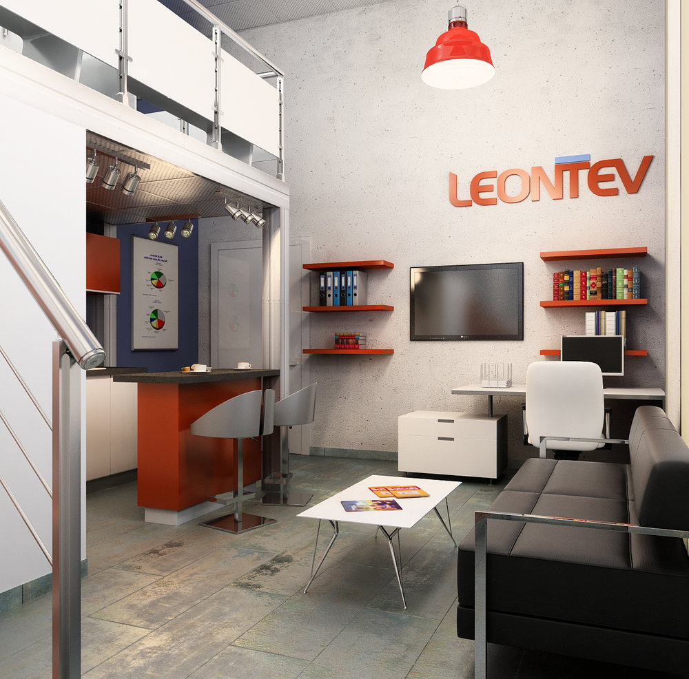 "Interior design of the transport company office ""Leontiev"""