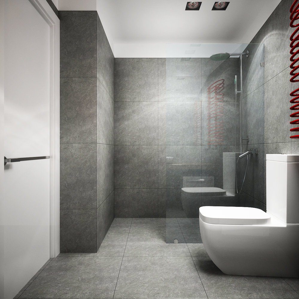 Bathroom interior design in a modern style.