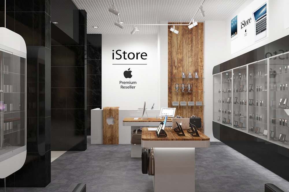 Design of reception area in the store.