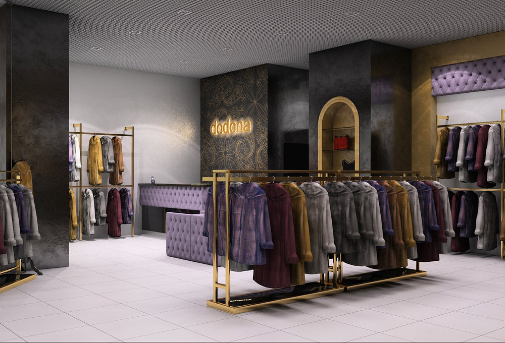 Development of brandname style of interior design in boutique.