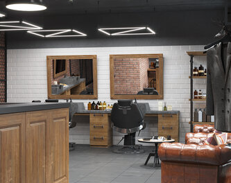 "Design of the gentlemen's club ""GC Barbershop"" in Lutsk"
