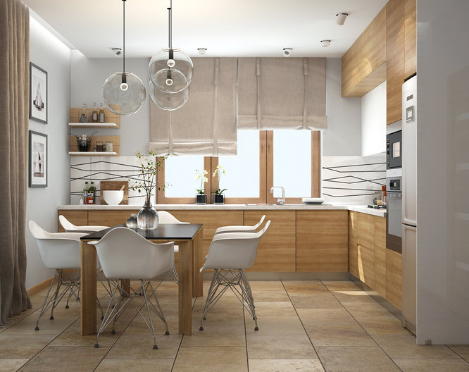 Kitchen interior design for two generations