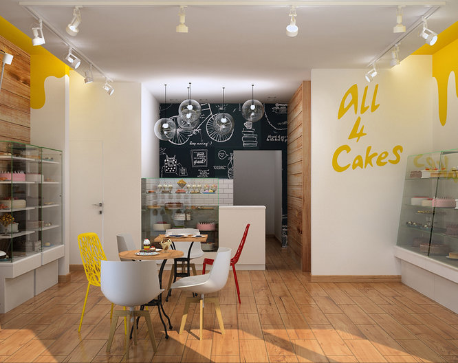 The design of the Cafe in Poland